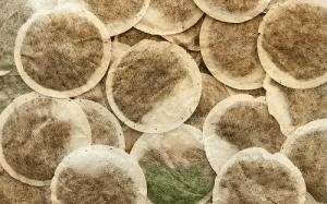 round shaped tea bag
