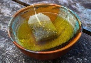 tea bag on boil water