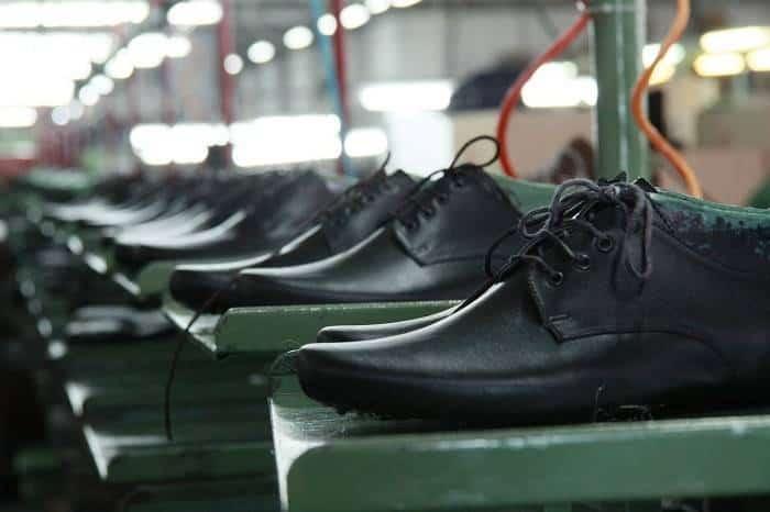 Factory default shoes on rack