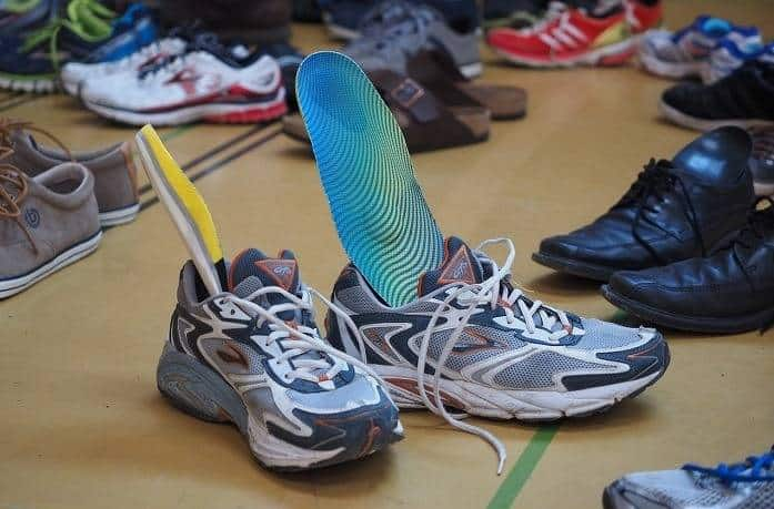 insole are ready to put inside shoes to reduce horrible sound