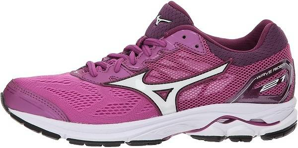 Mizuno Women's Wave Rider 21 Running Shoe for orange theory