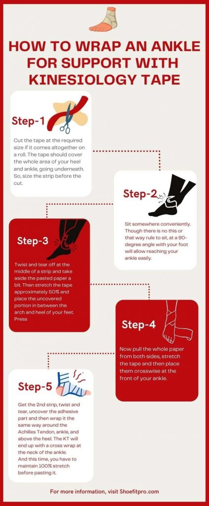 How to Wrap An Ankle For Support with Kinesiology Tape