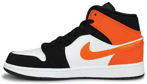 Air Jordan 1 Mid Mens _ Best Supported Basketball Shoes for Flat Feet
