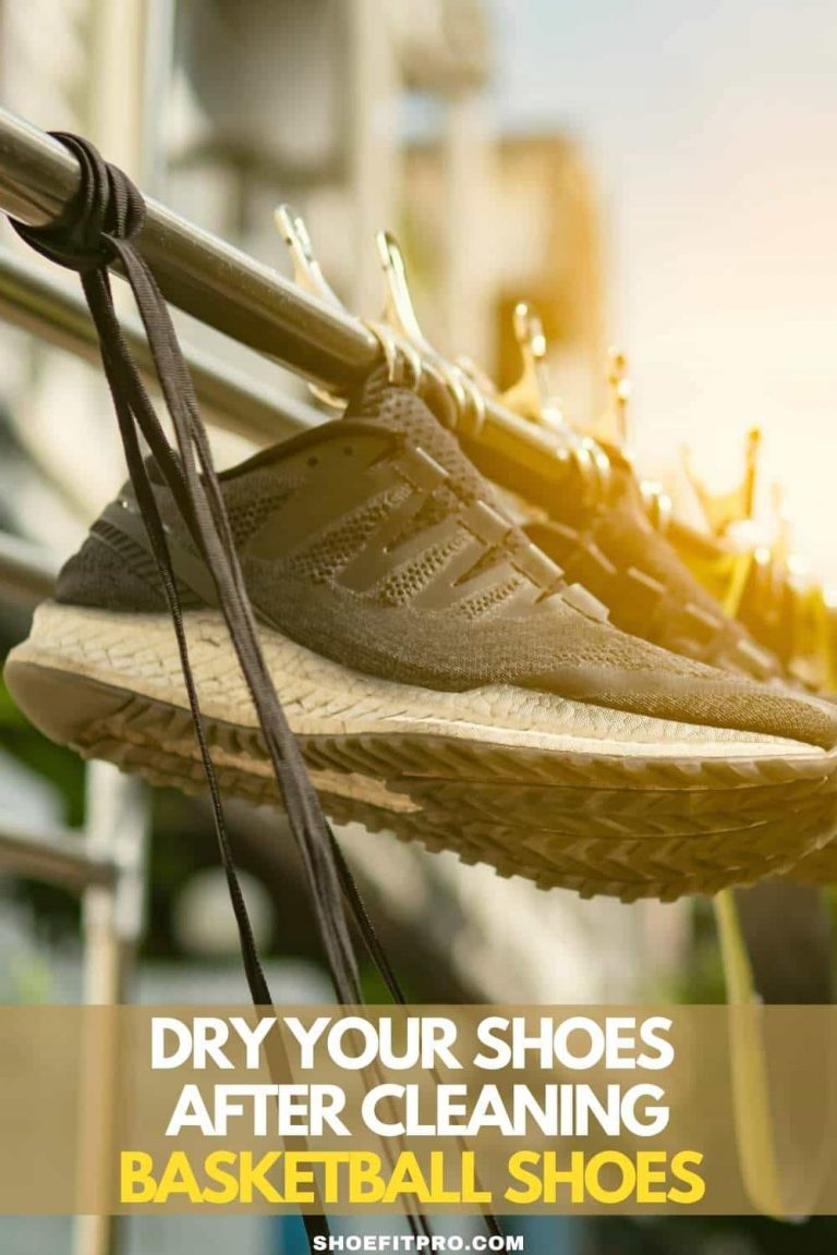 Dry your shoes after cleaning basketball shoes